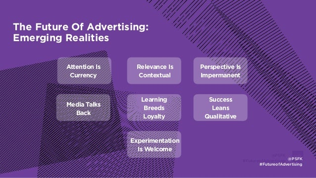 LABS @PSFK #FutureofAdvertising The Future Of Advertising: Emerging Realities Attention Is Currency Relevance Is Contextua...