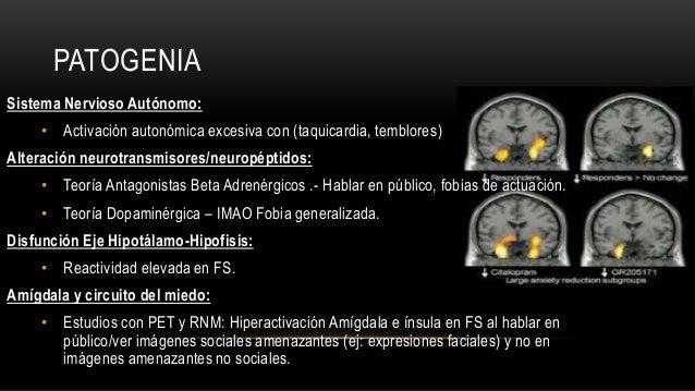 PATOGENIA Sistema Nervioso Autónomo: • Activación autonómica excesiva con (taquicardia, temblores) Alteración neurotransmi...