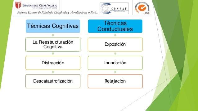 Técnicas Cognitivas La Reestructuración Cognitiva Distracción Descatastrofización Técnicas Conductuales Exposición Inundac...