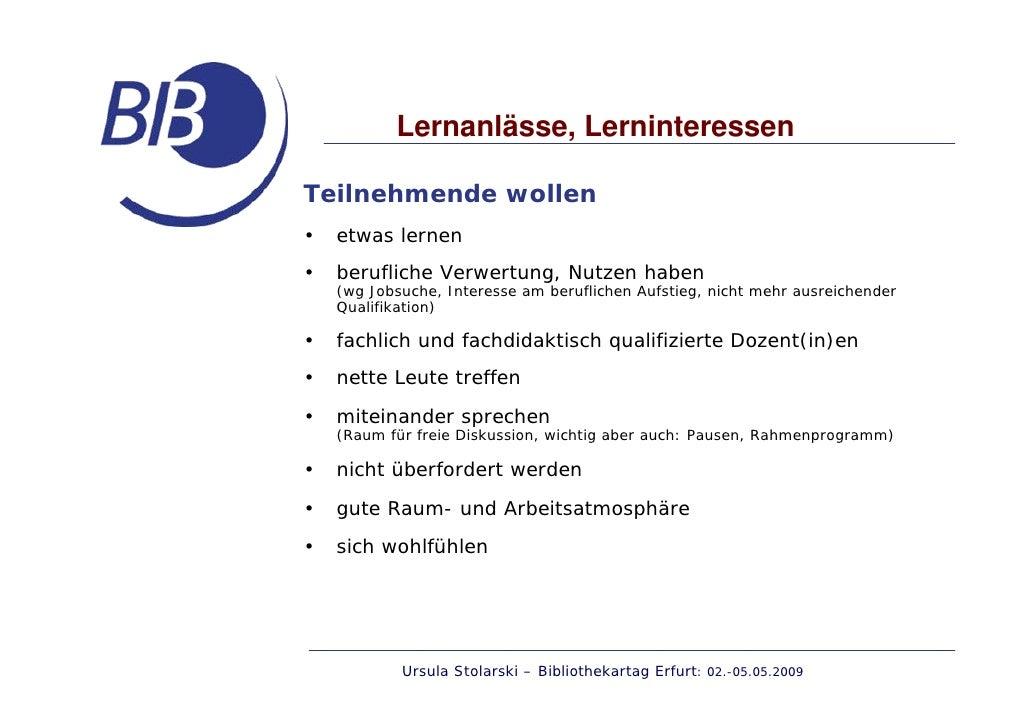 Fortbildungsformen Der Kommission Für Fortbildung Im Bib