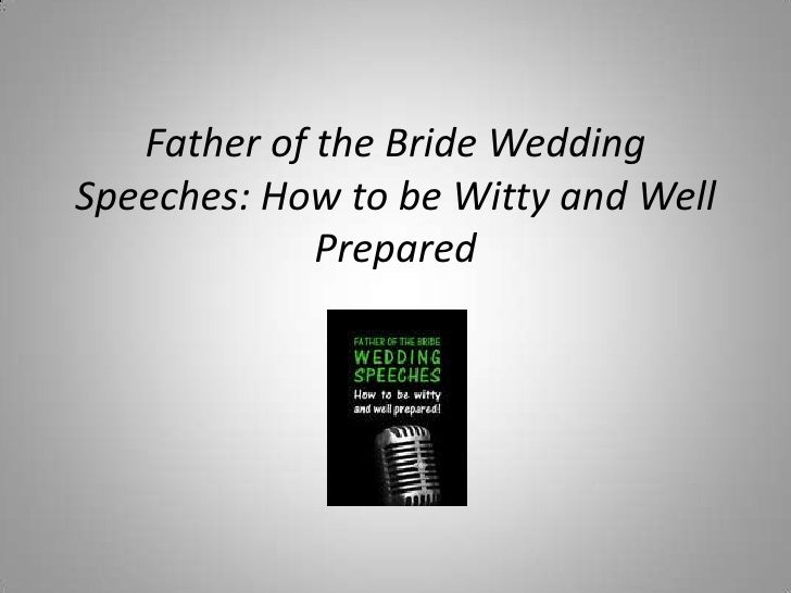 Wedding Day Speeches Father Of The Bride: Father Of The Bride Speech