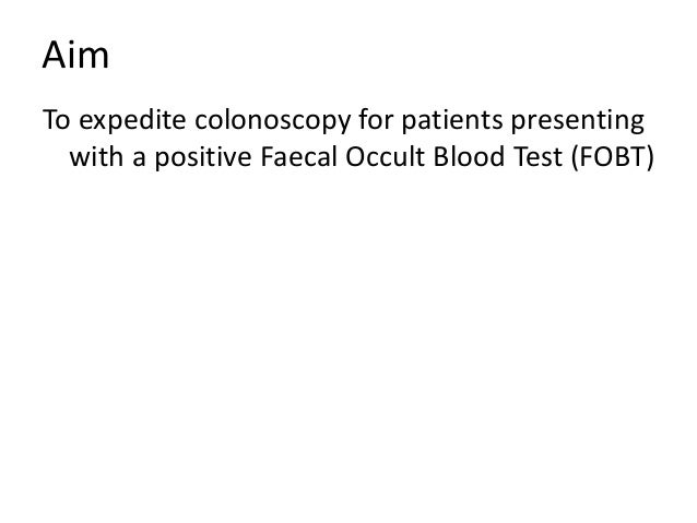faecal occult blood test instructions