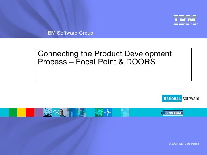 Connecting the Product Development Process – Focal Point & DOORS