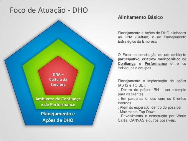 Foco de Atuação - DHO Alinhamento Básico Planejamento e Ações de DHO alinhados ao DNA (Cultura) e ao Planejmaneto Estratég...