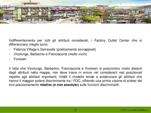 factory outlet di milan