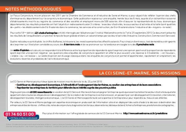 Focus conjoncture seine et marne d c 2015 - Chambre de commerce et d industrie de seine et marne ...