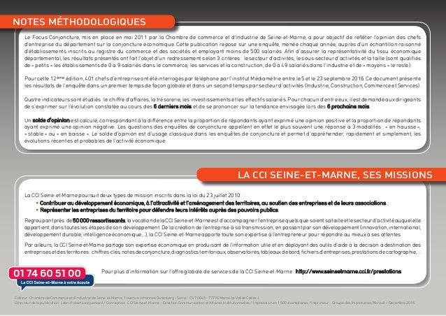 Le Focus Conjoncture, mis en place en mai 2011 par la Chambre de commerce et d'industrie de Seine-et-Marne, a pour objecti...