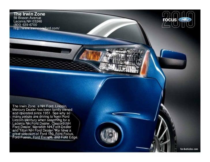 2010 ford focus sedan laconia for Irwin motors laconia nh