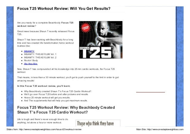 Focus T25 Workout Review: Will You Get Results?  Are you ready for a complete Beachbody Focus T25 workout review? Great ne...