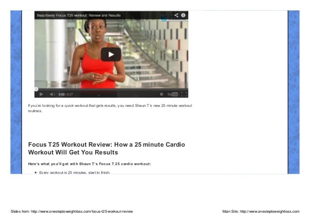 Beachbody Focus T25 Workout Review