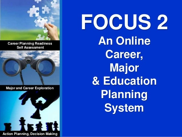 FOCUS 2 An Online Career, Major & Education Planning System Career Planning Readiness Self Assessment Major and Career Exp...