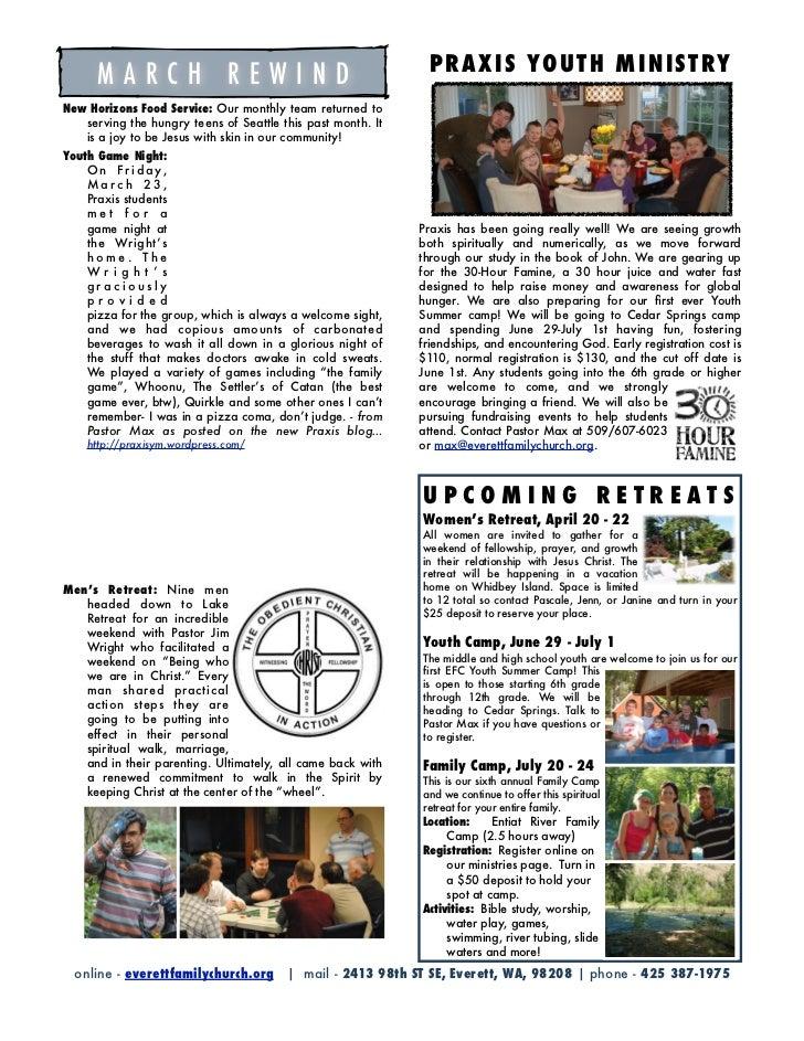 Focus Newsletter, April 2012 Slide 2