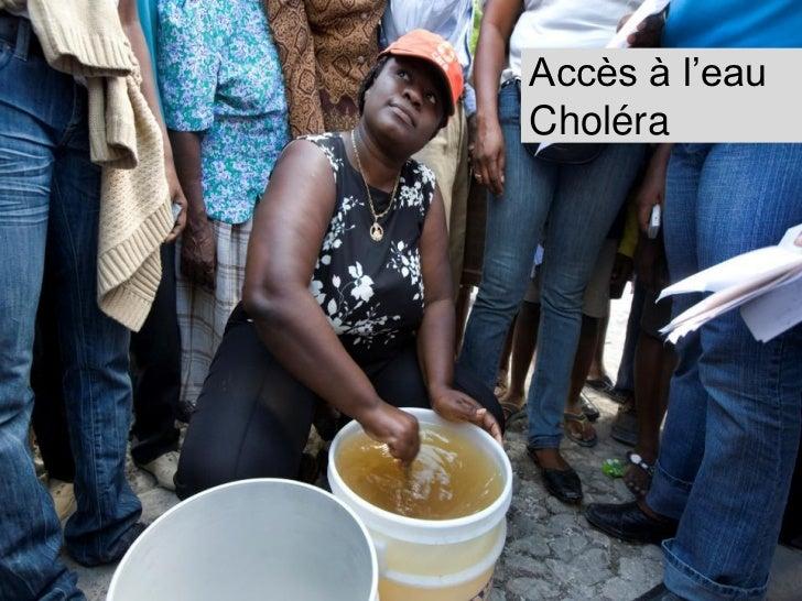 Les projetsChloration de leauDe mars à août 2011 Lieu : Port-au-Prince et ses environsLe projet a contribué à la préventio...