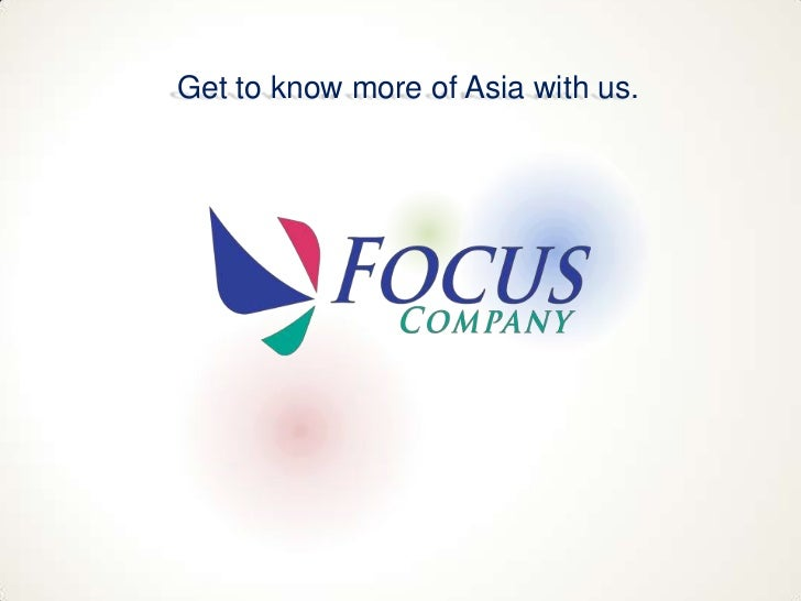 Get to know more of Asia with us.<br />