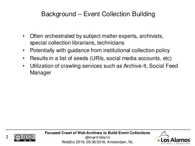 Focused Crawl of Web Archives to Build Event Collections Slide 2