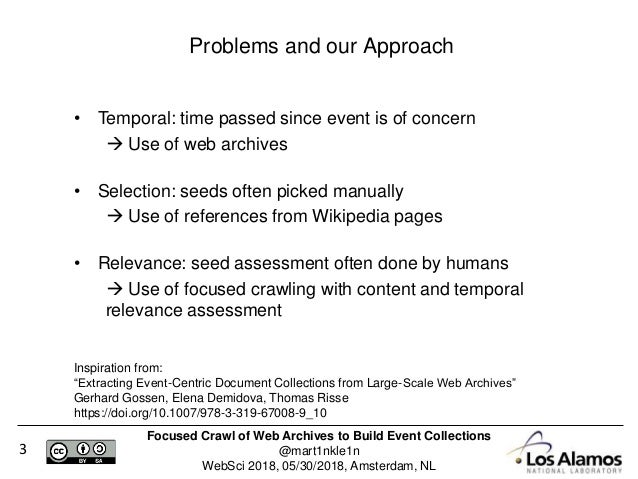 Focused Crawl of Web Archives to Build Event Collections Slide 3
