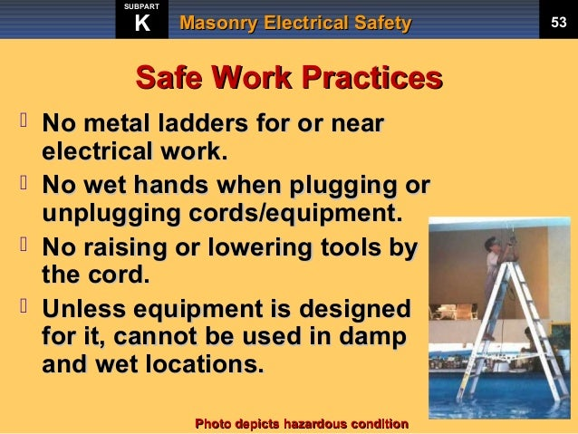 Masonry Electrical Safety Training by Rocky Mountain ...