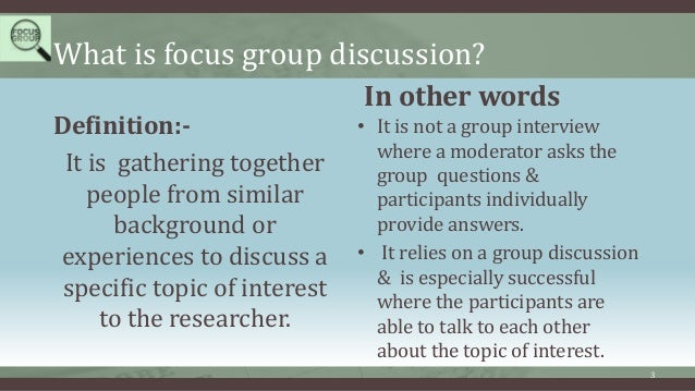 focus group discussion Findings of the focus group interviews 2 table of contents executive summary of focus group discussions 3.
