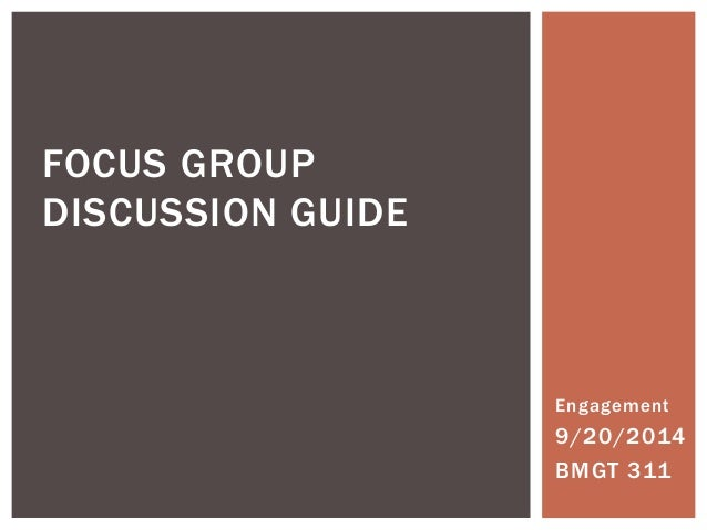 Guidelines for Conducting a Focus Group