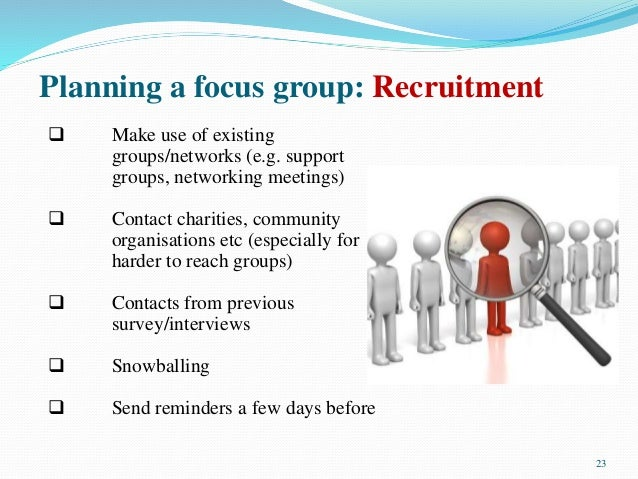 how to run a focus group