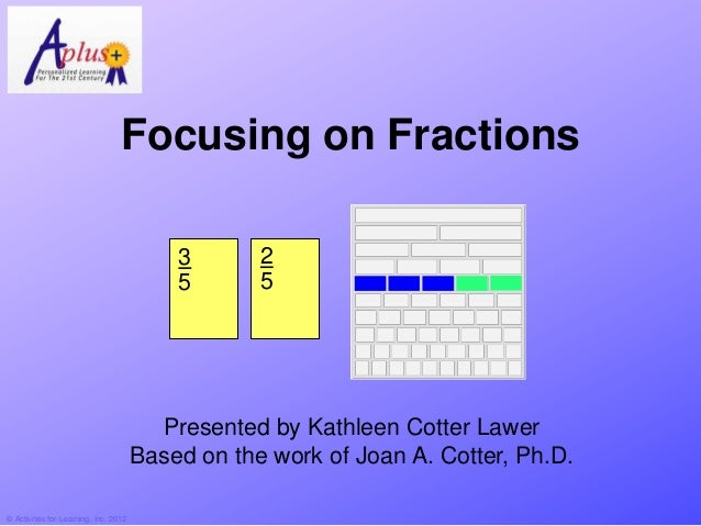 Focusing on Fractions                                           3       2                                           5     ...