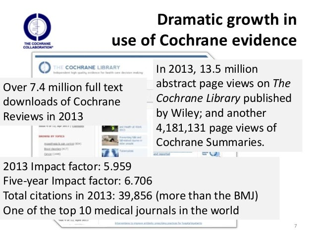 Focusing on impact: Cochrane's Strategy to 2020 / Mark