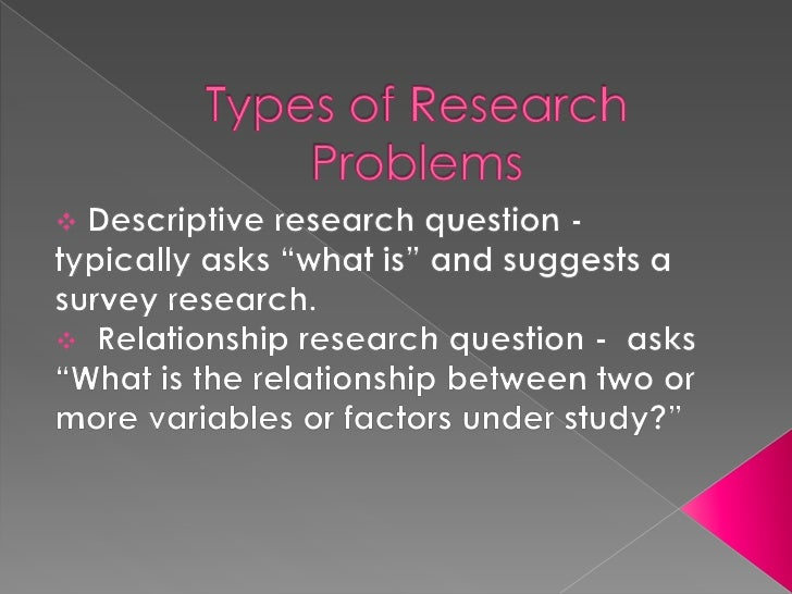 Focusing Research Question