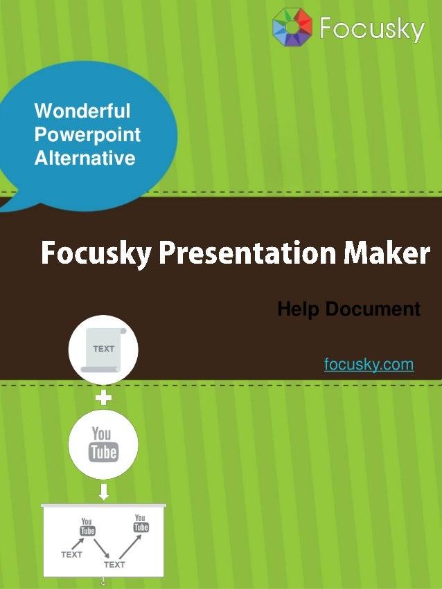 Focusky presentation maker manual / help document.