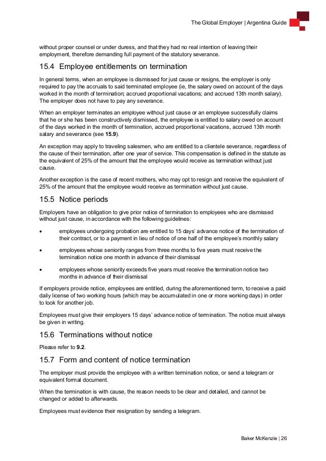 Argentina Employment Laws