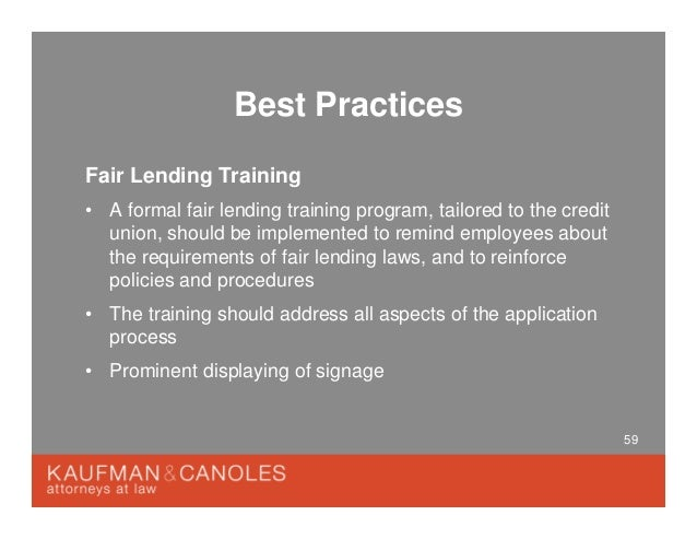 Focus on Fair Lending