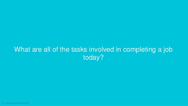21 Intuit Confidential and Proprietary What are all of the tasks involved in completing a job today?