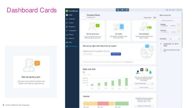 45 Intuit Confidential and Proprietary Dashboard Cards