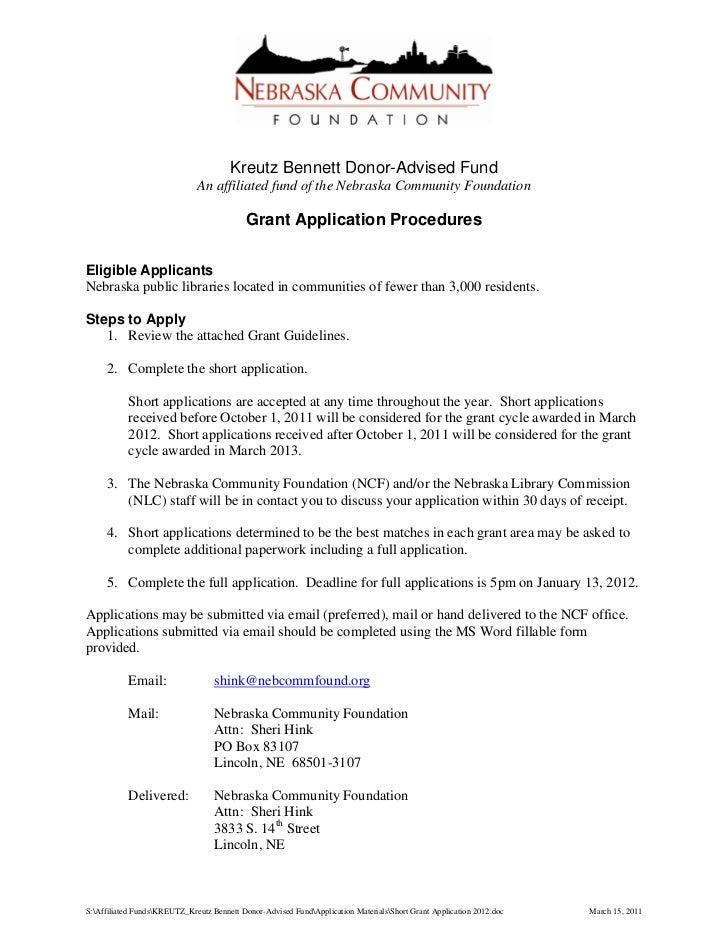 Kreutz Bennett Donor-Advised Fund                              An affiliated fund of the Nebraska Community Foundation    ...