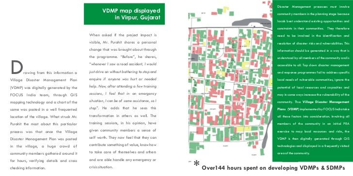 Disaster Management processes must involve                                                    VDMP map displayed          ...