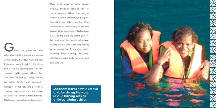 Over three days of water rescue                                          training, Shabnam learned how to                 ...