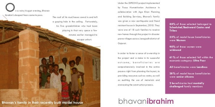 Under the DIPECHO project implemented  O         n a rainy August evening, Bhavan  Ibrahims deepest fears came to pass.   ...