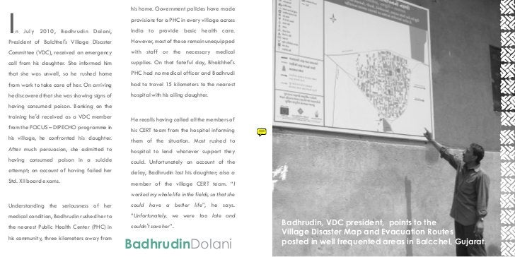 his home. Government policies have madeI   n July 2010, Badhrudin Dolani,President of Balchhels Village Disaster          ...