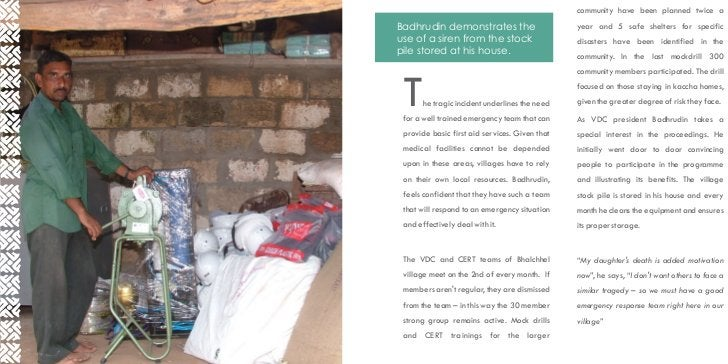 community have been planned twice aBadhrudin demonstrates the                      year and 5 safe shelters for specificus...