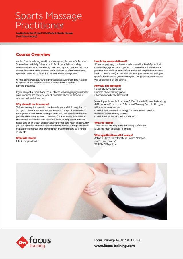Focus sports massage-insert