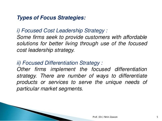 focus differentiation strategy for dell Change in consumer perception has brought industry focus on design  as a differentiation strategy in the automotive industry and its implication for strategic management through  of the industrial world towards design section (dell'era and.