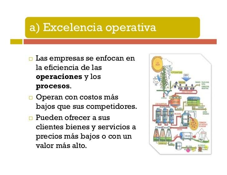 b) Liderazgo de productos Las empresas que se enfocan en elliderazgo de sus productos destacanen el desarrollo de la tecno...