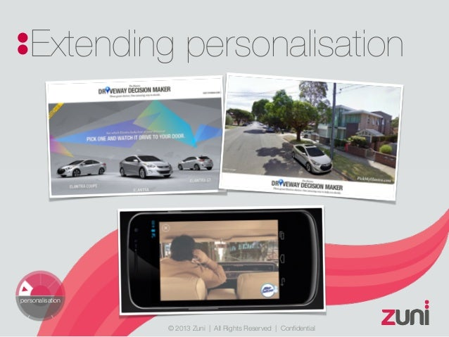 © 2013 Zuni   All Rights Reserved   Confidential Extending personalisation personalisation