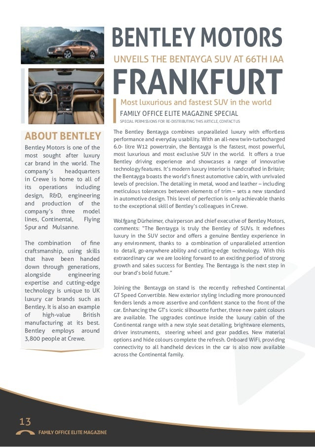 Family office elite magazine winter 15 with global arts 16 fandeluxe Images
