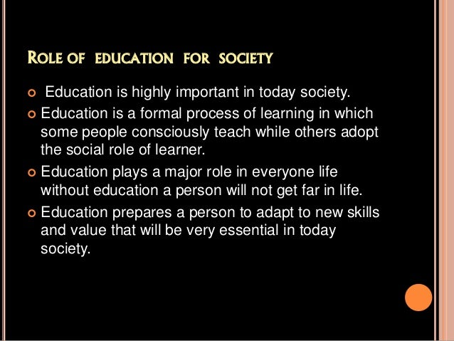 importance of value education in our life