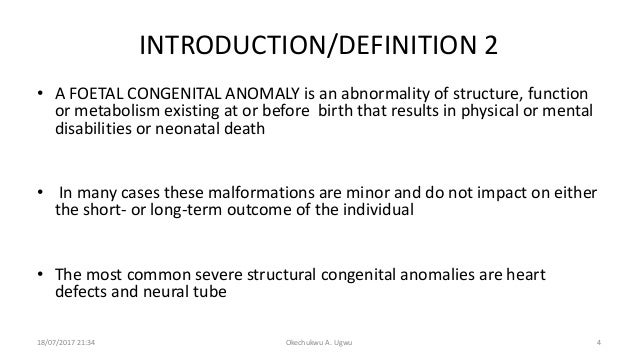 Congenital Anomaly Meaning