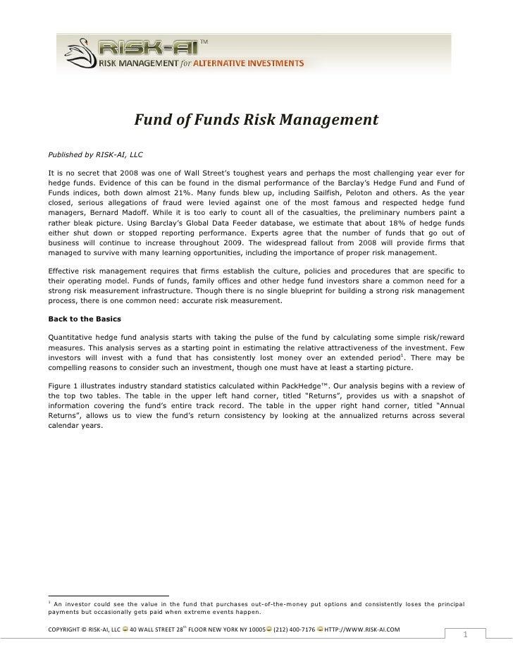 FundofFundsRiskManagement Published by RISK-AI, LLC  It is no secret t...