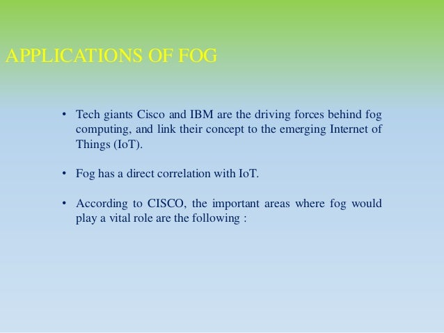 real time applications of fog computing