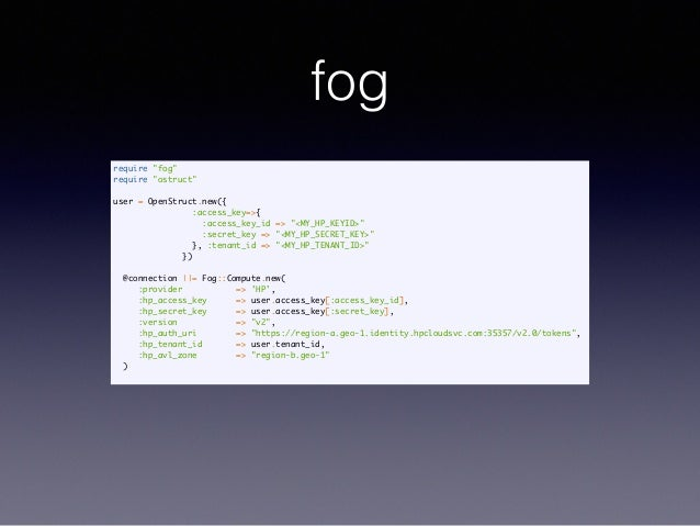 Using OpenStack With Fog