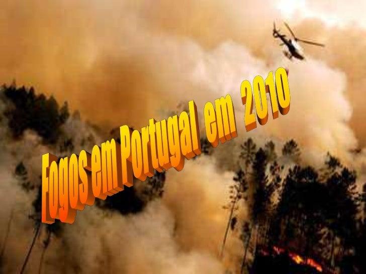 Fogos em Portugal  em  2010<br />