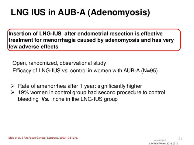 Levonorgestrel Intrauterine System (Lng-Ius) Side Effects